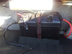 Battery in trunk